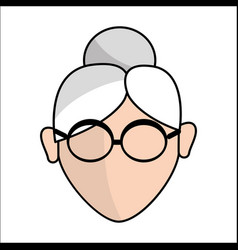 People avatar face women with glasses icon vector