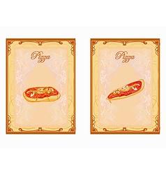 Pizza Menu card set vector image