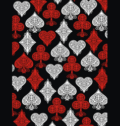 Playing card background vector