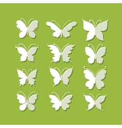 Set of butterflies for your design vector image