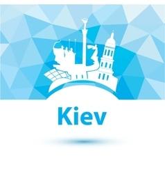 Silhouette of kiev vector