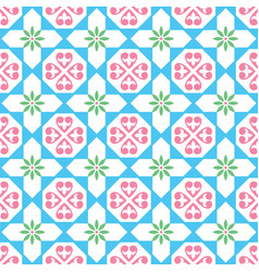 spanish tiles pattern seamless design vector image