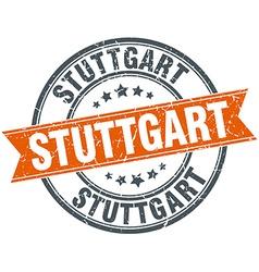 Stuttgart red round grunge vintage ribbon stamp vector