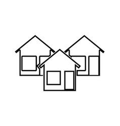 three house black color icon vector image vector image