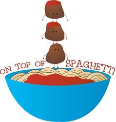 Top of spaghetti vector