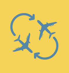 Travel airplane aircraft route vector