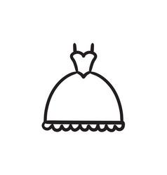wedding dress sketch icon vector image
