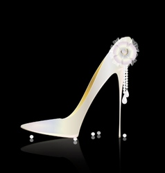white shoe and bow vector image