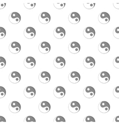 Yin yang sign pattern cartoon style vector