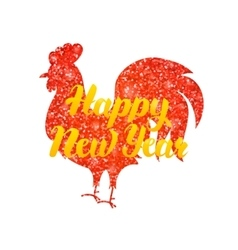 Red rooster chinese new year vector