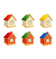 Brick houses vector