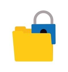 Folder data padlock lock security vector