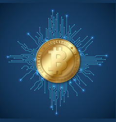 Crypto currency bitcoin net banking and bitcoins vector