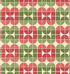 Bright tattered textile geometric seamless pattern vector
