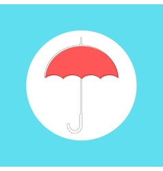 Red umbrella in stroke-style vector