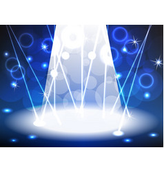 Stage with blue tone lights vector image