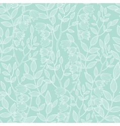 Mint green floral texture seamless pattern vector