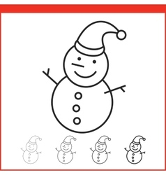 Snow man icon vector