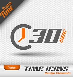 Time icon 30 seconds symbol design elements vector