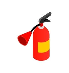 Fire extinguisher isometric 3d icon vector