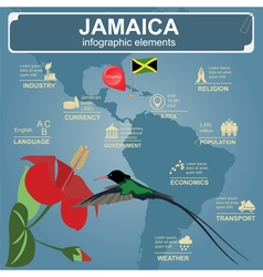 Jamaica infographics statistical data sights vector