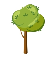 Thick tree icon cartoon style vector