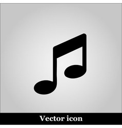 Music notes icon vector