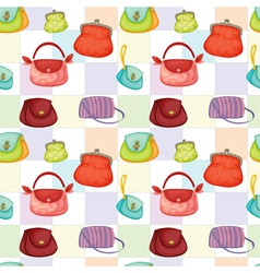 bags and purses wallpaper vector image