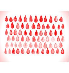 Blood drop set vector