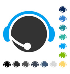 Call center operator icon vector