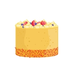 Cheesecake with berries and sprinkles decorated vector