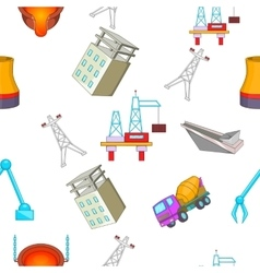 Construction plant pattern cartoon style vector