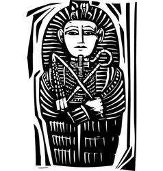 Egyptian sarcophagus vector