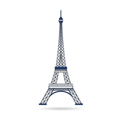 Eiffel Tower Paris Icon vector image vector image