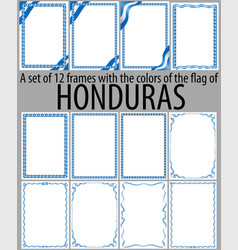 Flag v12 honduras vector
