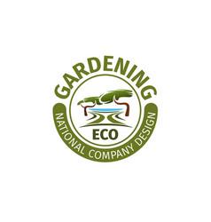 gardening landscape design company icon vector image