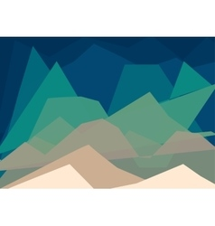 Geometric landscape vector image vector image