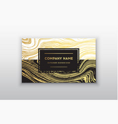 Golden business card with brush vector