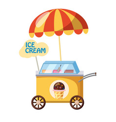 Ice cream mobile snack icon cartoon style vector