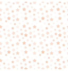 Isolated pale pink color stars on the white vector image vector image