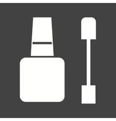 Nail treatment items vector