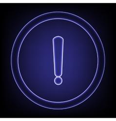 Neon effect icon vector