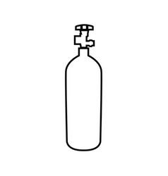 Propane gas cylinde black color icon vector