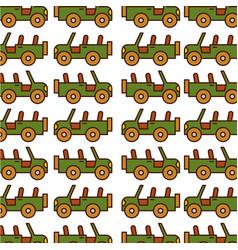 Safari jeep pattern background vector
