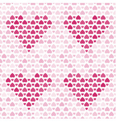 seamless pattern with purple hearts vector image