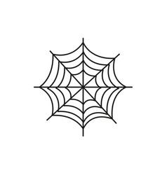 Spider web halloween icon vector