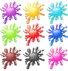 Water splash in many colors vector