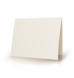 white folder paper greeting card template vector image vector image