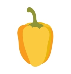 Yellow pepper vegetable food flat vector image