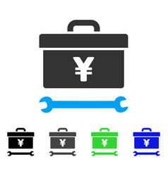 Yen toolbox flat icon vector